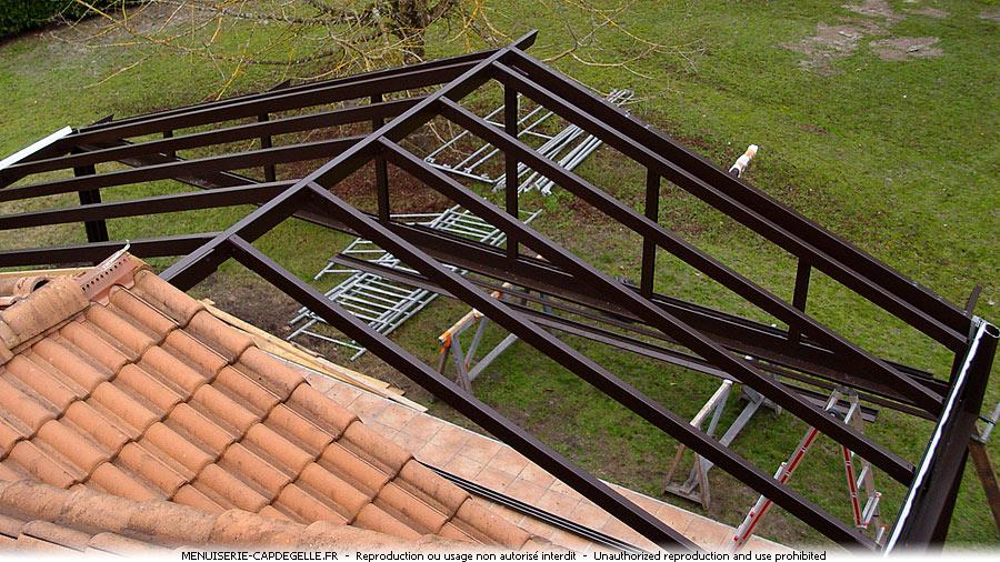 V randas aluminium et acier casteljaloux 47700 for Profile alu pour veranda